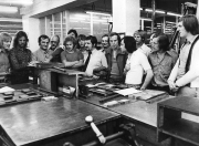 1974/75 Druckereibesichtigung
