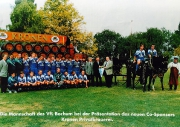 Saison 1995/96 Mannschaftsbild Kronen Brauerei