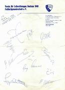 1968 Pokalhalbfinale Autogramme Bayern München
