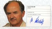 1982/83 Scheckheft Hubert Schieth