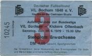 1969/70 Tickets