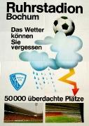 1977/78 ca. Ruhrstadion Bochum Werbeplakat