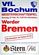 1981/82 Werder Bremen
